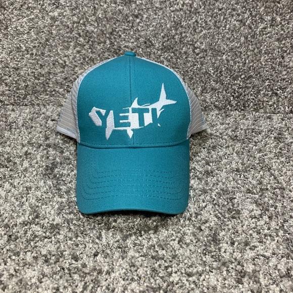 9b47d3e8e6df7 Yeti Coolers Teal Aqua Tarpon Trucker Hat